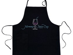 Mommy's Sippy Cup Rhinestone Apron